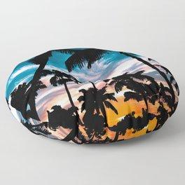 Palm trees dream Floor Pillow