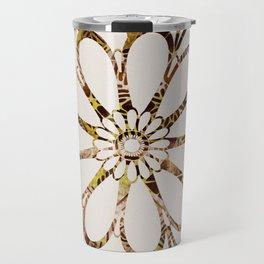 Floral Design Ornament Travel Mug