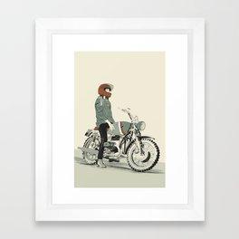 The Woman Rider Framed Art Print