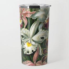 Vintage Orchid Floral Travel Mug