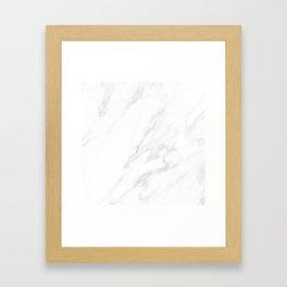 Classic White Marble Framed Art Print