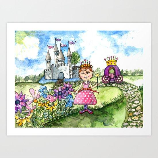The Polka Dot Princess Art Print