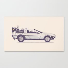 Famous Car #2 - Delorean Canvas Print