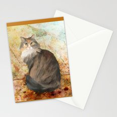Maine coon cat Stationery Cards