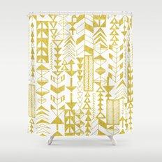 Golden Doodle arrows Shower Curtain