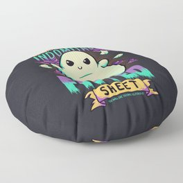 Indomitable Fitted Sheet // Funny, Halloween, Adulting Floor Pillow