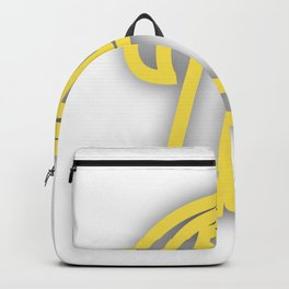 Letter B in Yellow Backpack