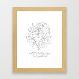 South Carolina Sketch Framed Art Print