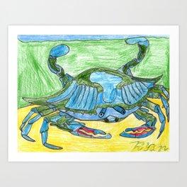 Blue Crusher Art Print