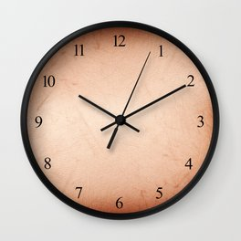 Sepia tone scratched texture abstract Wall Clock