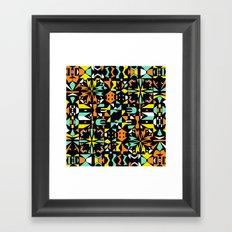 Square 3 color option 1  Framed Art Print