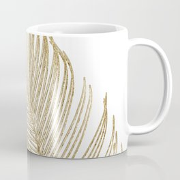Palm Leaves Finesse Line Art with Gold Foil #2 #minimal #decor #art #society6 Coffee Mug