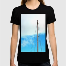 sailing pole and blue sky T-shirt