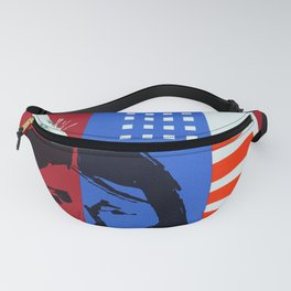 USA - Vinatge Swissair Travel Poster Fanny Pack