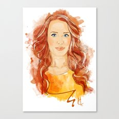 Simone Simons Canvas Print