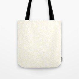 Tiny Spots - White and Cornsilk Yellow Tote Bag