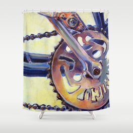 Bicycle Crank Shower Curtain