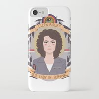 heymonster iPhone & iPod Cases featuring Ellen Ripley by heymonster