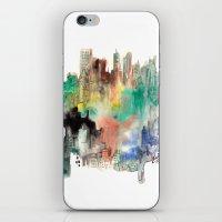 skyline iPhone & iPod Skins featuring Skyline by I disegni di Mae
