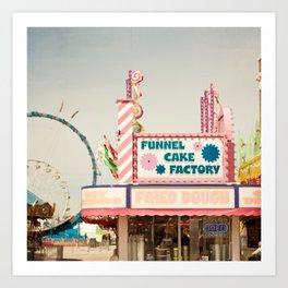 Carnival Funnel Cake Factory  Art Print