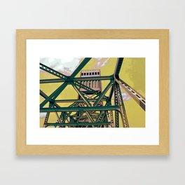 Main street bridge art print - Jacksonville, Florida - industrial steel beauty Framed Art Print