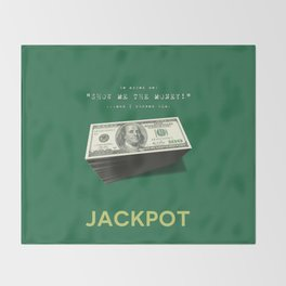 Show Me The Money - USD Casino Jackpot  Throw Blanket