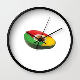 Browser Avacado Wall Clock