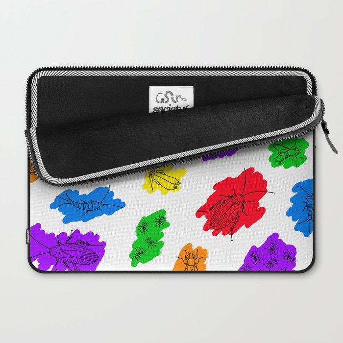 Uninvited Guests - Black Outline Laptop Sleeve