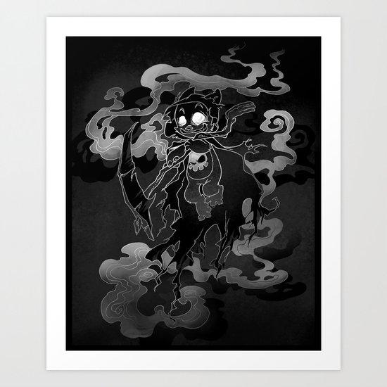 Deathly Bear Art Print