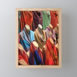 Pashmina Shawls Framed Mini Art Print