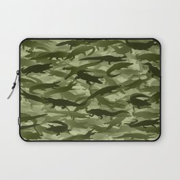 Crocodile camouflage Laptop Sleeve