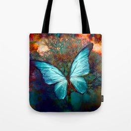 The Blue butterfly Umhängetasche