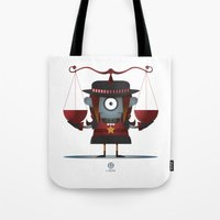 libra Tote Bags featuring LIBRA by Angelo Cerantola