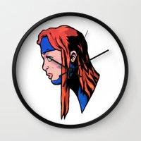 xmen Wall Clocks featuring x9 by jason st paul