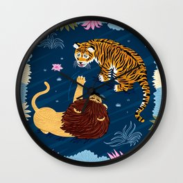 Rumble In The Jungle Wall Clock
