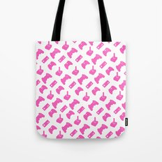 Gamer  - Pink on White Tote Bag
