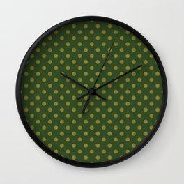 Polkadot Jurrasic Green Wall Clock