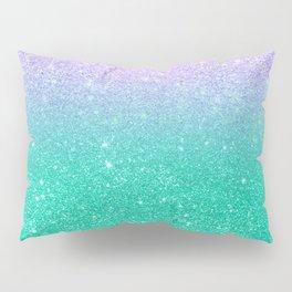 Mermaid purple teal aqua FAUX glitter ombre gradient Pillow Sham