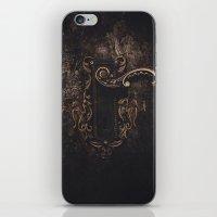door iPhone & iPod Skins featuring door by Erica Petit Illustrations
