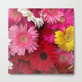 FLOWERS ALL AROUND Metal Print