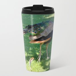 Peacock in the park Travel Mug