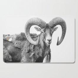 Animal Photography   Mountain Goat   Minimalism Art Cutting Board