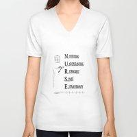 nurse V-neck T-shirts featuring Nurse Description by Ginkelmier