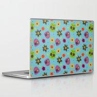 sugar skulls Laptop & iPad Skins featuring Sugar Skulls by grrrenadine