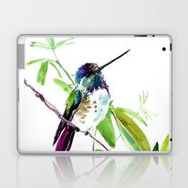 Hummingbird and Green Foliage, tropical green design Laptop & iPad Skin
