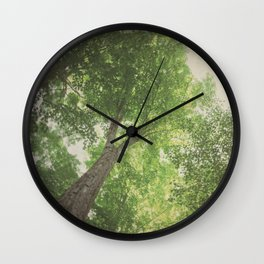 Green Tree Wall Clock