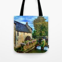 postcard Tote Bags featuring French Postcard by Exquisite Photography by Lanis Rossi