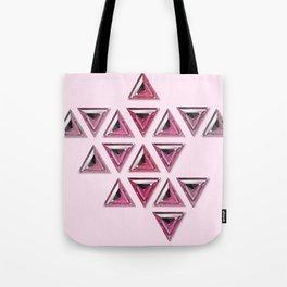 Pink Gradient Trillion Pattern Tote Bag