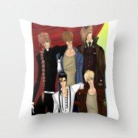 gundam Throw Pillows featuring Gundam Wing by artwaste