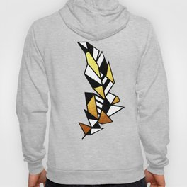 Gold Feather Design Hoody